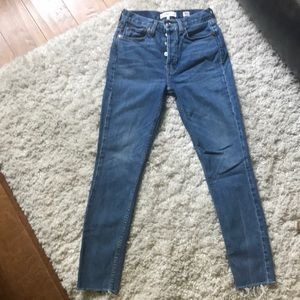 Re/done high rise skinny stretch medium vain